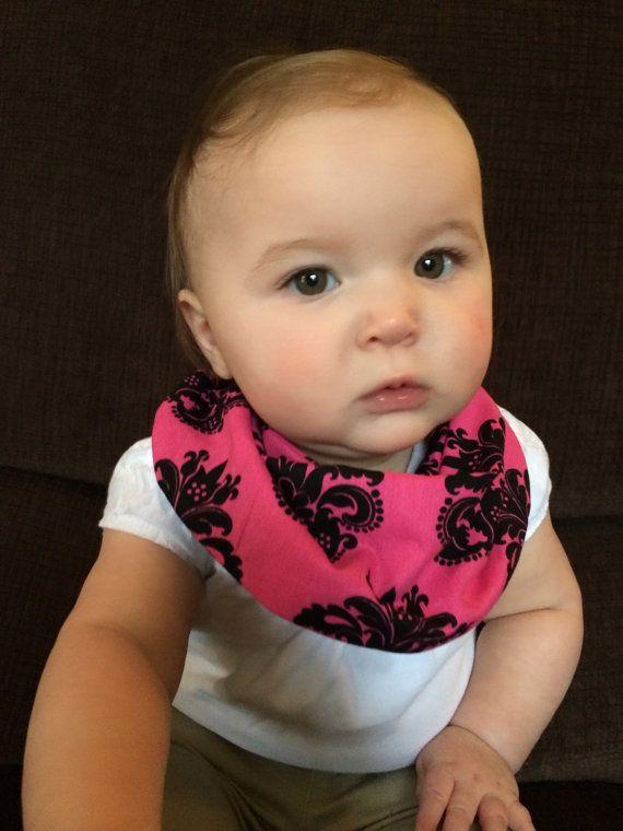 Hey, I found this really awesome Etsy listing at https://www.etsy.com/listing/182971362/baby-infinity-scarf-bib-pinkblack