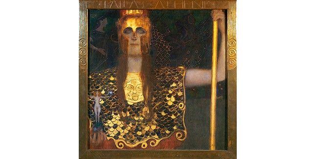 클림트, [팔라스 아테나], 1898년, 캔버스에 유채, 75x75cm, 빈 미술사 박물관