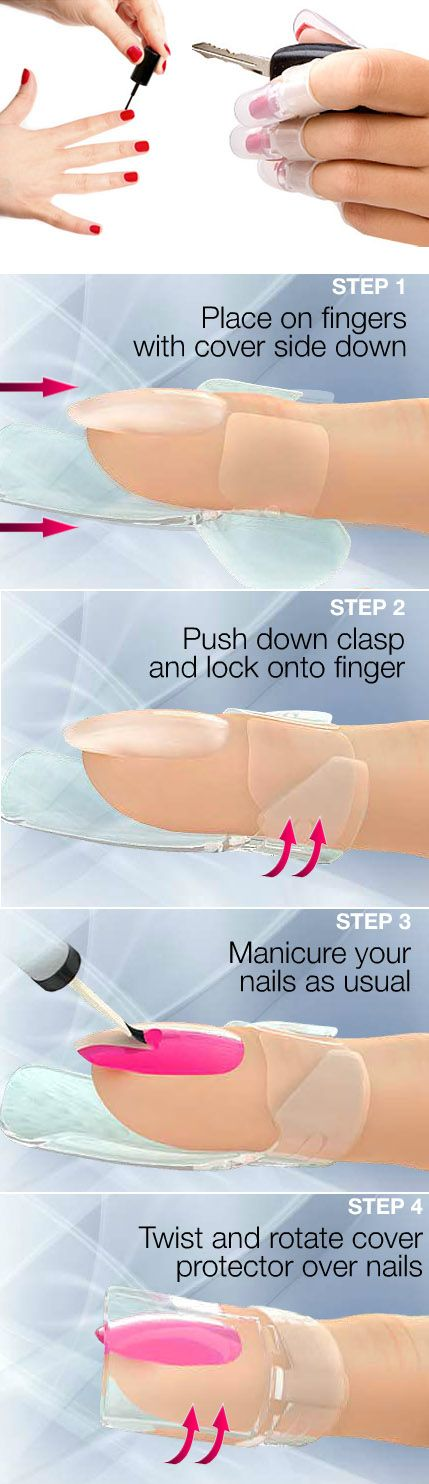 Manicure protectors: slide these on your fingers to protect your nails until they dry