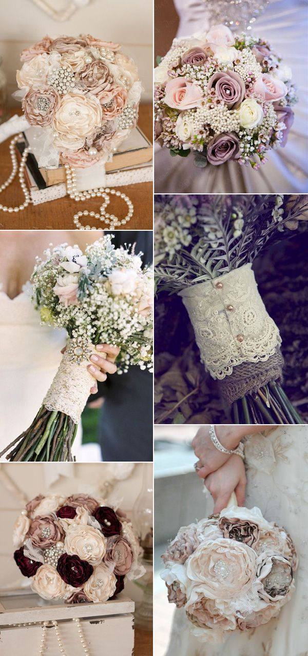2017 trending wedding bouquets for vintage themed weddings