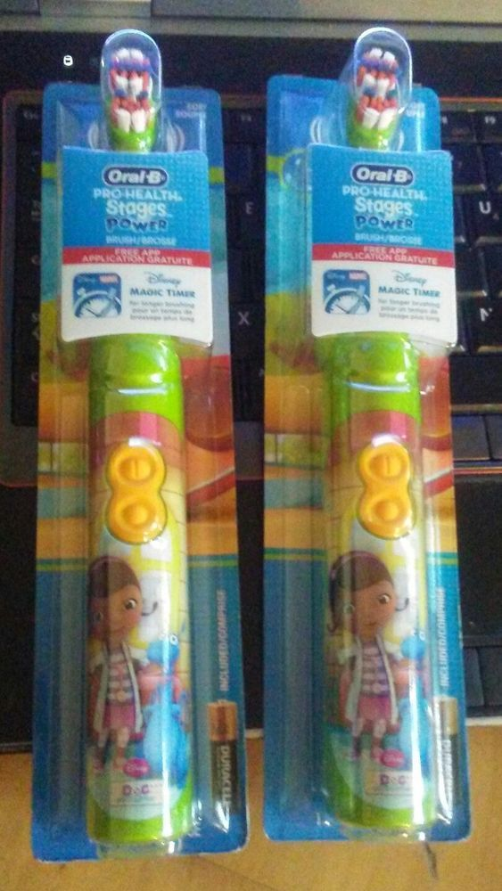 Lot of 2 Oral-B Pro-Health Stages Power Toothbrush Disney Doc McStuffins  #OralB