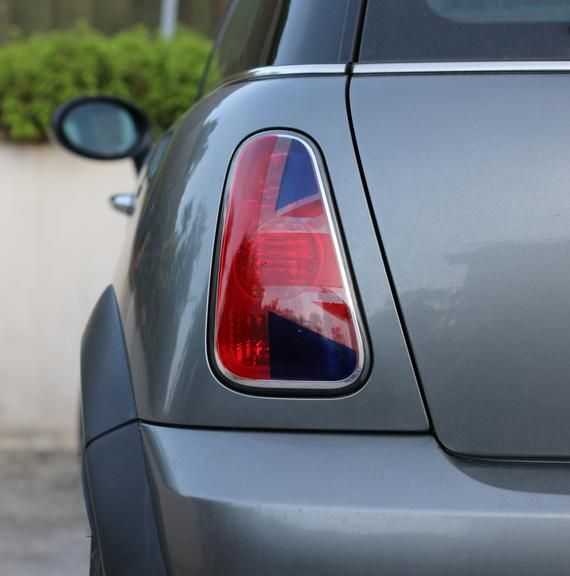 Red Blue Union Jack Tail Light Stickers Decals For Mini R53 R52 R50 In 2020 Union Jack Mini Tail Light