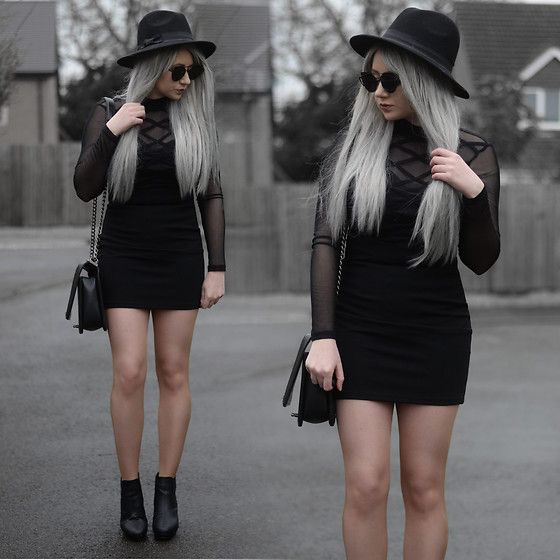 Get this look: http://lb.nu/look/8976198 More looks by Sammi Jackson: http://lb.nu/sammi_jackson Items in this look: Primark Black Fedora, Zaful Sunglasses, Tobi Black Mesh Dress, Oasap Quilted Bag, Office Ankle Boots #chic #gothic #grunge #black #allblack #primark #fedora #primania #sheer