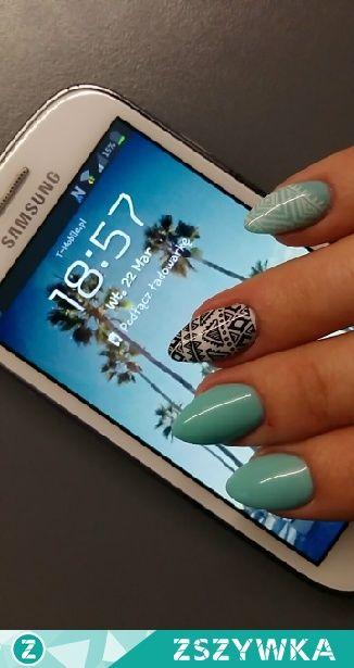 Zobacz zdjęcie miętowe paznokcie #nails #pazurki w pełnej rozdzielczości