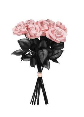Pink Bouquet – Peytil – Leinwandbild