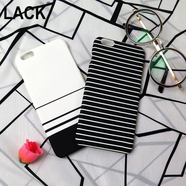 Raya de la cebra caso para iphone 6 cubierta de la caja dura de color blanco negro azul caso para iphone 6 s 6 más 5 5S proteger cajas del teléfono coque Capa