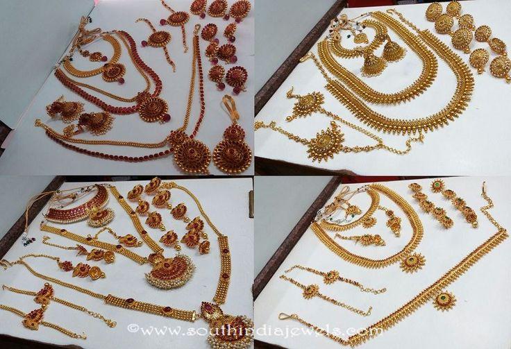 Imitation wedding jewellery sets, South Indian wedding jewellery sets, Bridal wedding jewellery sets, Kemp Bridal Jewellery Sets