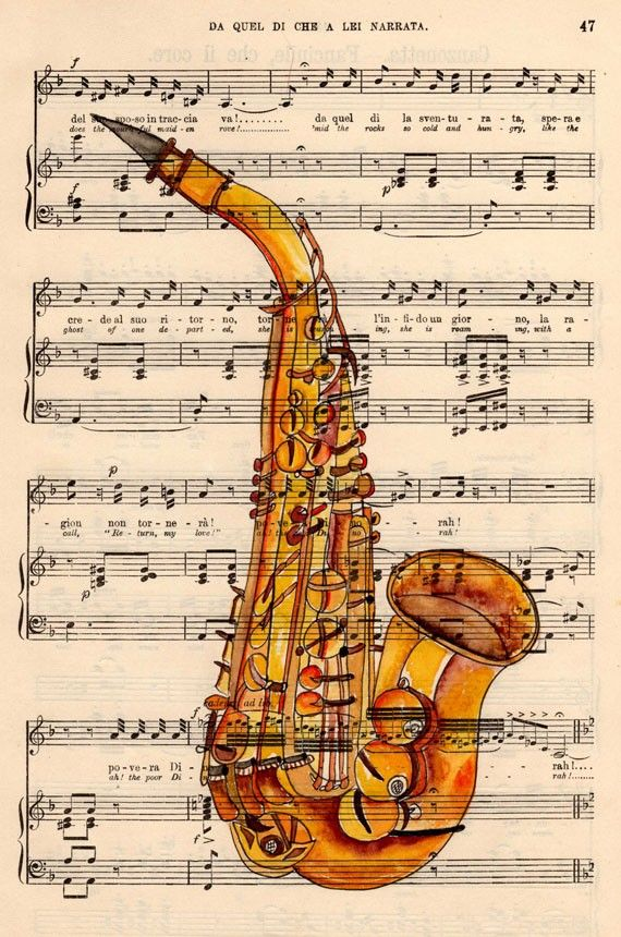 Painted Saxophone 1 of my favorite instruments