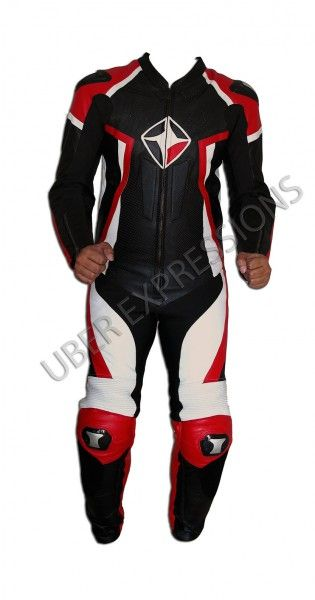 Kore Cobra Red Black One Piece Motorbike Racing Leather Suit