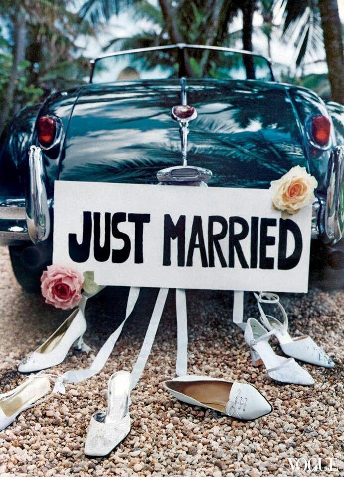 wedding car just married  wedding  pinterest