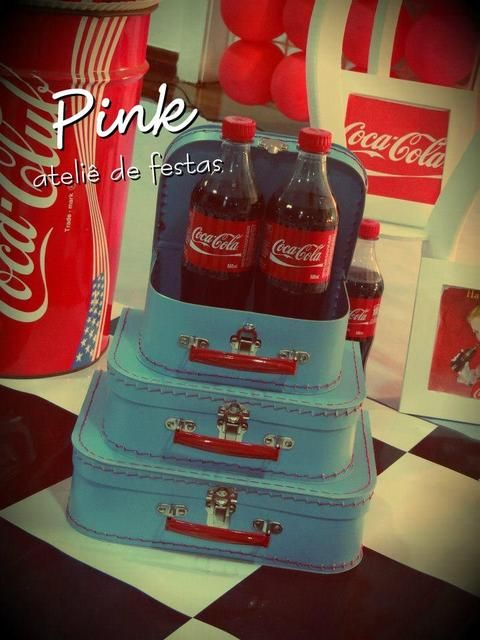Décor at a Coca Cola Party #cocacola #partydecor