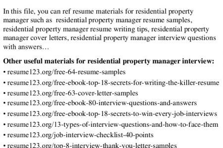 resident manager resume top 8 residential property manager resume samplesin this file you can