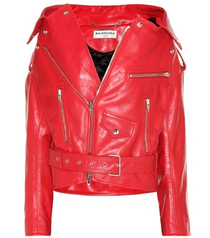 Buy it now. Leather biker jacket. Red leather biker jacket by Balenciaga , chaquetadecuero, polipiel, biker, ante, anteflecos, pielflecos, polipielflecos, antelina, chupa, decuero, leather, suede, suedette, fauxleather, tassel, chaquetadecuero. Red BALENCIAGA  leather jacket  for woman.