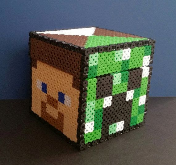 gaming beads minecraft faces storage chest by gamingbeads. Black Bedroom Furniture Sets. Home Design Ideas