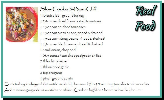 Slow Cooker 3 Bean Chili