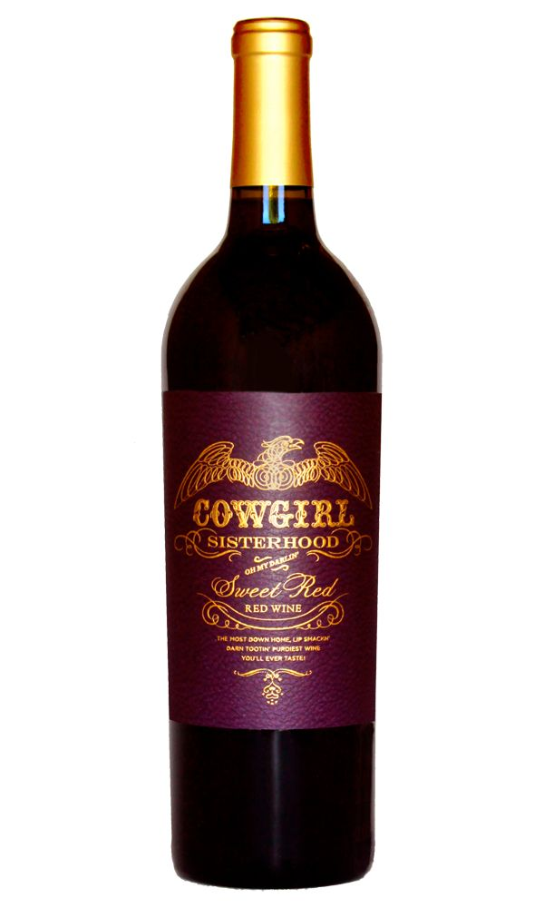Cowgirl Sisterhood California Sweet Red Wine. Sweet and jammy blackberries, plums, black cherries and raspberries with a big dollop of black honey and a touch of brown spice. Food Pairings Barbeque ribs, pulled pork, burgers, red- sauced pastas and pizza, spicy Latin and Asian dishes.