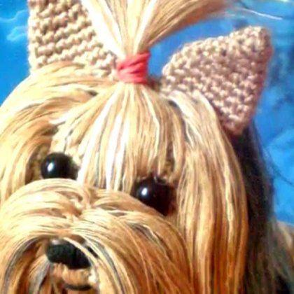 Вязание крючком. Собака Йорк