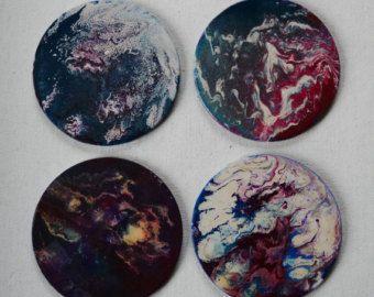 Hand Painted Coasters by PenBeestonArtist on Etsy