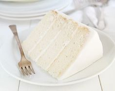 The Perfect White Cake (The blogger looked for 2 years for the perfect white cake recipe. She writes that this recipe has the perfect taste, and texture.)