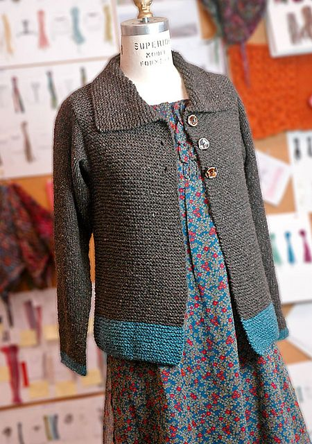 Our Sawtelle Adult cardigan is made entirely of knit stitches and the only seaming is at the shoulders. It's the grown up version of our popular Sawtelle for girls.
