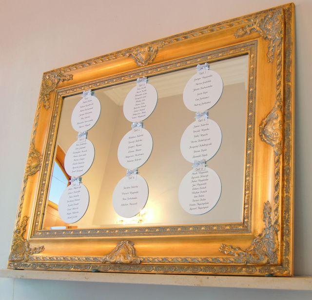 1. Roman Wedding,Table plan / Rzymskie wesele,Tablica z rozsadzeniem gości,Anioły Przyjęć