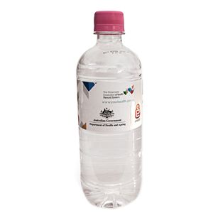 You can never go wrong with custom printed promotional bottled water like this 600ml Natural Spring Water with Pink Cap available at Vivid Promotions Australia. For more information, you have to view this image. #Promotionalbottledwater #printedbottledwater #customisableplasticbottle #600mlNaturalSpringWaterwithPinkCap #VividPromotions