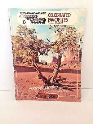 EZ Play Today Celebrated Favorites Songbook For Organs Pianos Vintage 1976