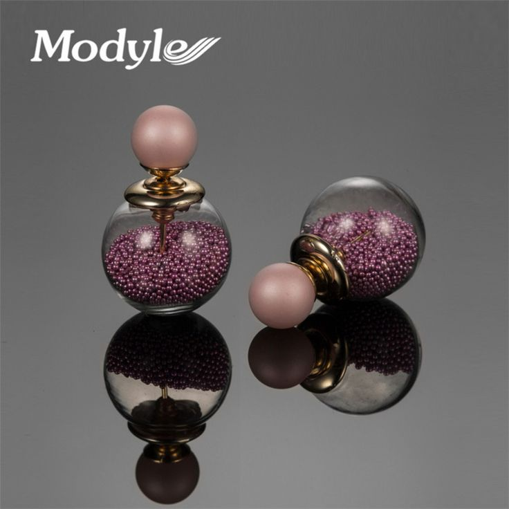 Double Ball Simulated Pearl Earrings