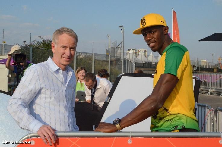 @Usain Bolt's photo: Talking to John McEnroe today for NBC