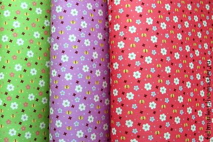 "ФЕТР с рисунком ""Цветочный сад с бабочками"" (3 вида на выбор) - фетр"
