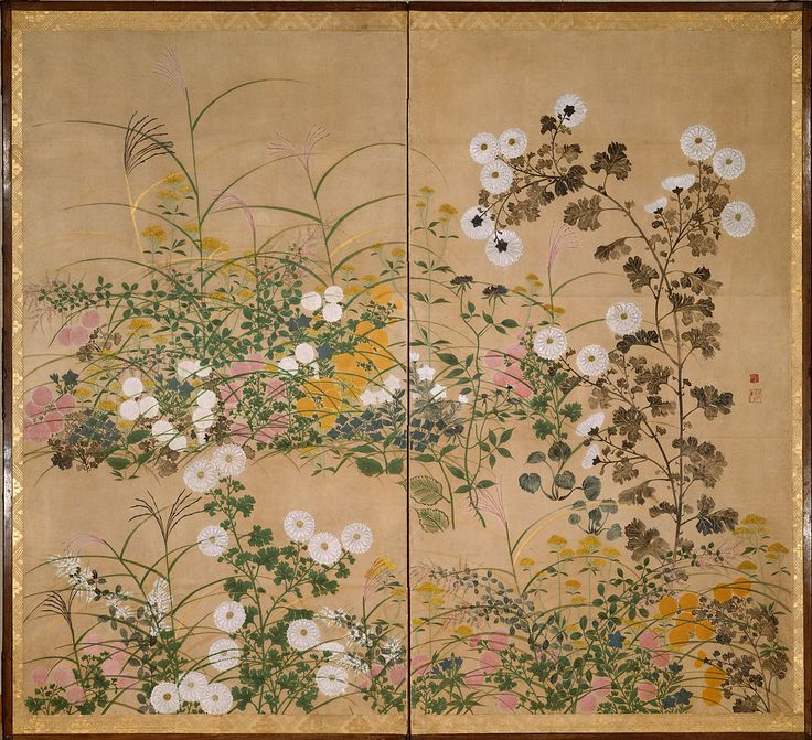 Flowering Plants in Autumn (18th century) attributed to Ogata Korin