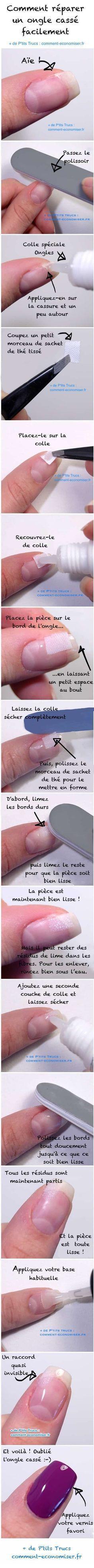 Tendance Vernis : Il existe une astuce simple pour réparer vous-même votre ongle cassé. En plus