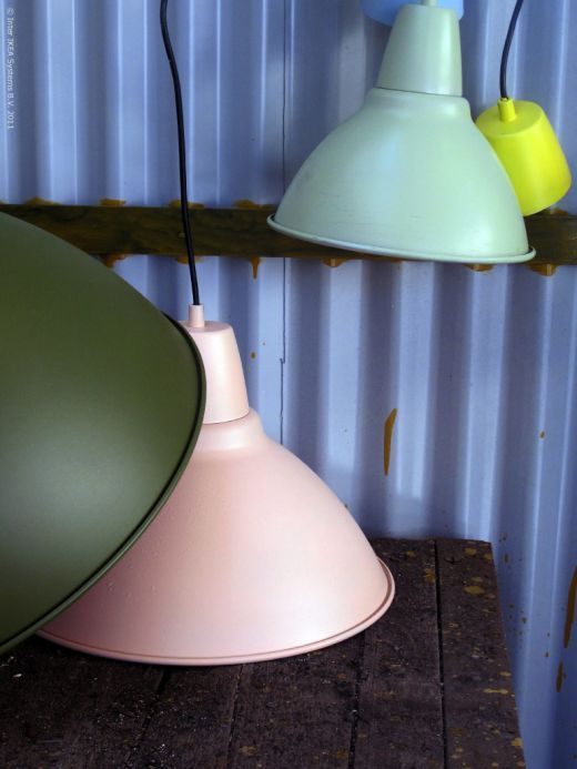 IKEA FOTO lamp, spray painted.  Might have to do this for the kitchen.