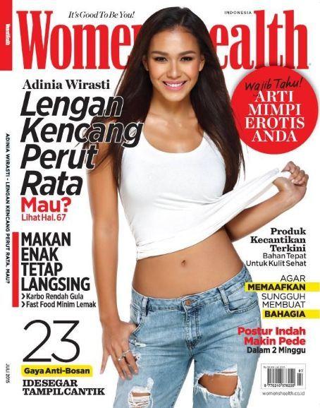 Adinia Wirasti - Women's Health Magazine Cover [Indonesia] (July 2015)