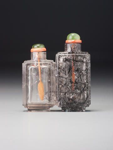 A 'hair-crystal' double snuff bottle 1740–1880