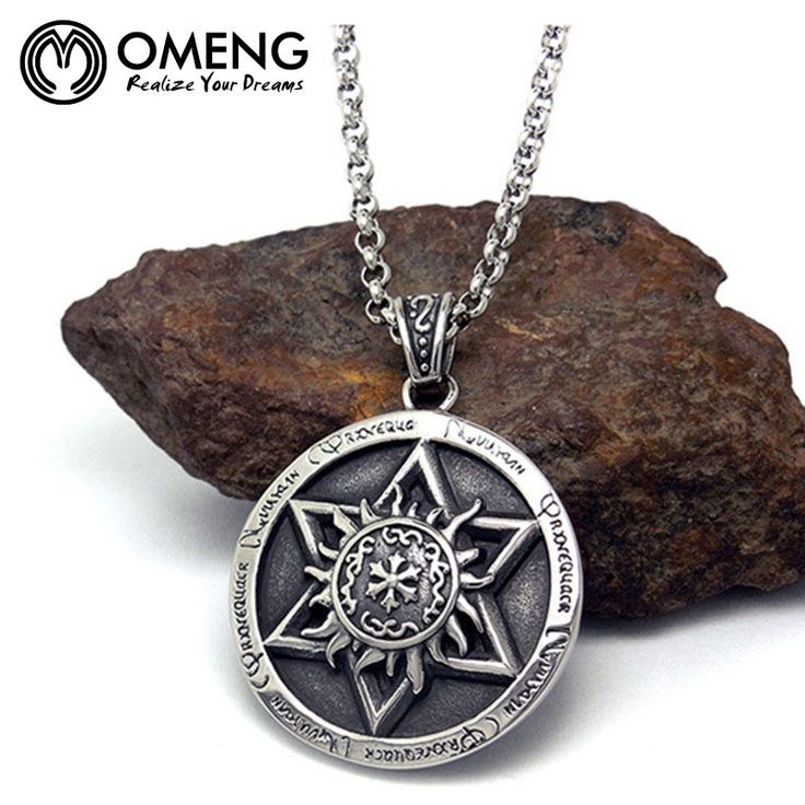 OMENG New Arrival Movie Jewelry Stainless Steel Pendant Supernatural Pendant Star Of David Necklace For Man Jewelry OXL194