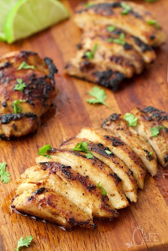 Mexican Honey-Lime Grilled Chicken - don't worry about this chicken drying out, it stays moist, tender and full of fabulous Southwest-inspired flavor!