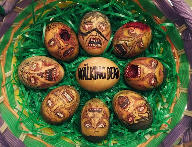 The Walking Dead Zombie Easter Eggs.....could be painted on rocks!