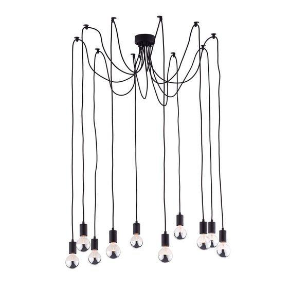 Zuo Modern Fog 59-in Black Multi-Pendant Light