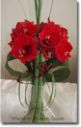 gladiolus wedding bouquet. I would make it teal, purple, and white instead but I want gladiolus' in my bouquet
