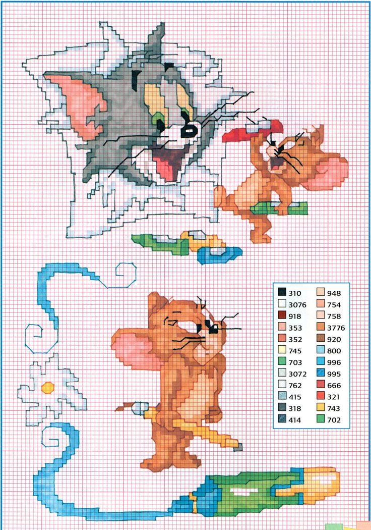 Tom e Jerry jogar com lápis de cor