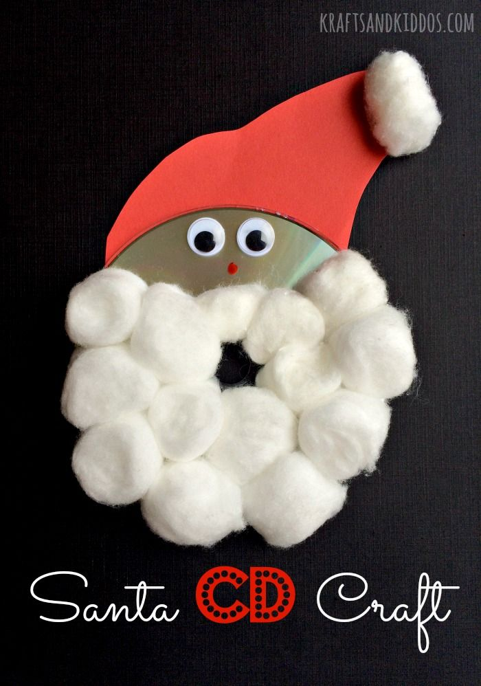 Santa Craft using a CD | Christmas/Winter Crafts for Kids ...