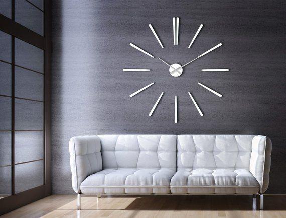 Grand Moderne Mur Horloge Blanc Elegance Enorme Design D Interieur Large Wall Clock Modern Wall Clock Modern White Wall Clocks