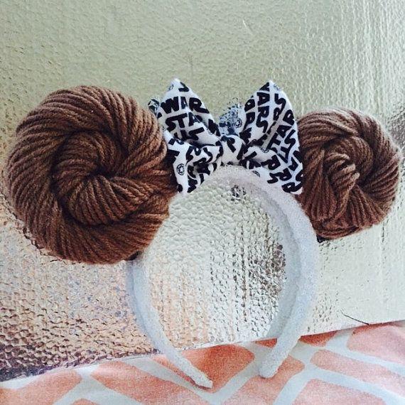 Princess Leia Star Wars Disney Minnie Mouse by DashingColorsbyNate