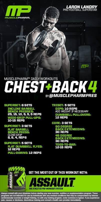 Chest+Back 4 | Workout | Pinterest