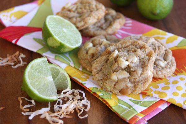 amazing lime-coconut white chip macadamia nut cookies! yum!
