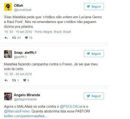 Silas Malafaia ataca candidatos às eleições de outubro no Twitter