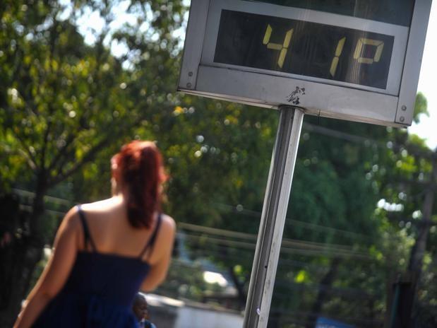 Alguns termômetros no Rio de Janeiro registraram temperatura superior a 40ºC. Foto: Mauro Pimentel/Terra