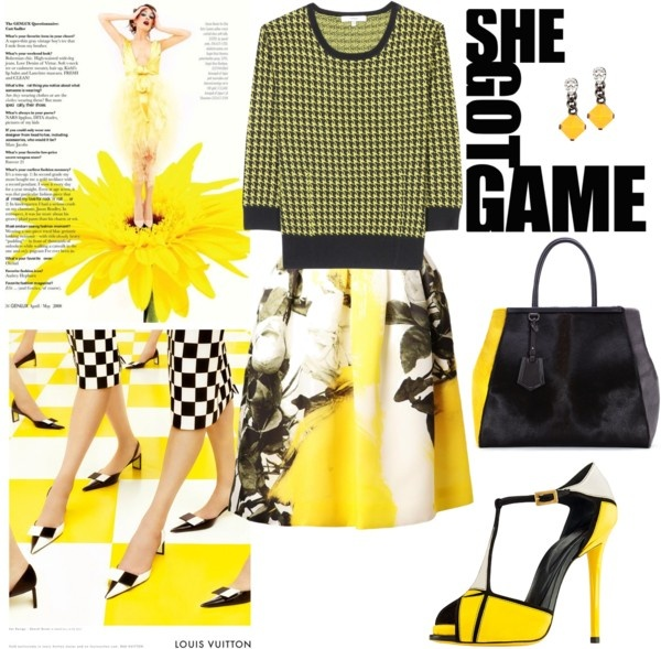 """She got the game"" by nataliacg ❤ liked on Polyvore"