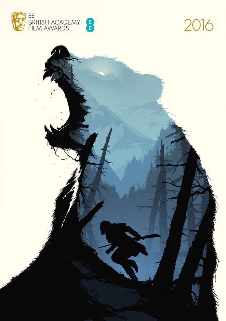 Illustrated Posters of BAFTA 2016's Best Movies - TheRevenant